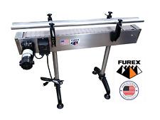 Furex Stainless Steel 4 X 4 Inline Conveyor With Plastic Table Top Belt
