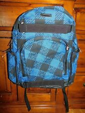 Zoo York Cadet Blue Faux Pattern Laptop Backpack Brand New