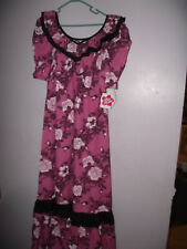 Vintage NWT 2x HILO HATTIE PINK HAWAII ALOHA WEAR DRESS FLORAL