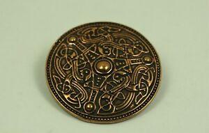 Brosche Bronze Wikinger Fibel Scheibenfibel Bronzeschmuck Wikingerschmuck