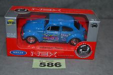 Welly NEX VW Volkswagen Beetle 1:34 Diecast Model In Blue Opening Doors In Box