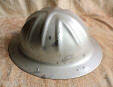 Vtg B.F. McDonald Co Aluminum HARD HAT Adjustable SAFETY Hat Los Angeles -Estate