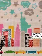 MD239 New York City Manhattan The Big Apple Metro NYC  Cotton Quilt Fabric