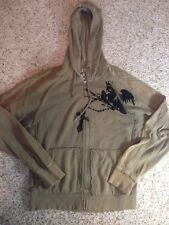 GIRLS GUESS HOODIE, SIZE LARGE. Brown With Decal. Ked