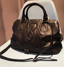 Modalu Black Soft Real Leather Large Slouchy Bag