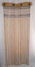 HANDMADE WOODEN CURTAIN BEADED doorway door room window divider screen