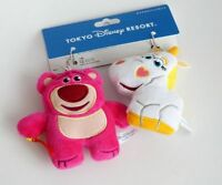 Tokyo Disney Toy Story Lotso Bear Strawberry & Unicorn brooch PIN Plush Toy