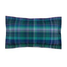 Blue and Purple Plaid Style Microfiber Pillow Sham