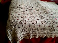 Vintage handmade lace bed covers with crochet  Bedspreads