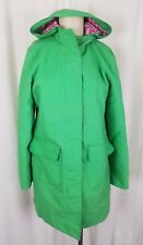 LL Bean Hooded Spring Green All Weather Trench Coat Womens M
