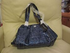 New With Tags Charlie Lapson Blue Patent Leather Handbag rrp £265