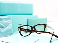 TIFFANY & CO. 2114 F 8015 Eyeglasses Frames Glasses Tortoise ~ 55mm ~ NEW w/Box