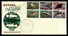 DR WHO 1980 GUYANA FDC FISH WILDLIFE  182428