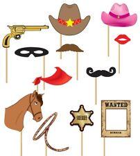 Set photo booth cowboy 12 pz