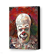 Framed Scary Clown Pennywise Odd Abstract 8.5X11 Art Print Lim Ed w/signed COA