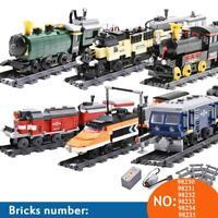 City Rail Creator Building Blocks Electric Train Technic Powered Bricks Sets