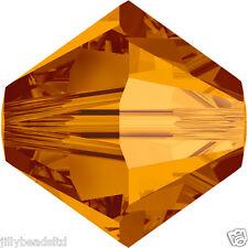 SWAROVSKI 5328 XILION Bicone Beads 4mm: Crystal RAME (50 Perline)