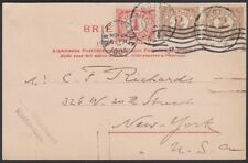 NETHERLANDS, 1904. Post Card 56, 59 (2), Rotterdam - New york