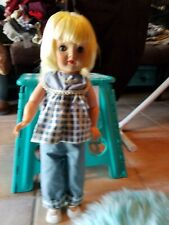 "Vintage 1950's 18"" Horseman style doll blond hair, outfit included"