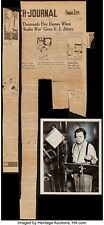 ORSON WELLES WAR OF THE WORLDS RADIO BROADCAST ORIGINAL PHOTO &