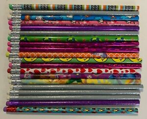 20 Unsharpened Pencils - Assorted Colors and Patterns