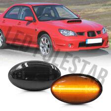 Smoked Lens Amber Led Side Marker Light for 02-07 Subaru Impreza Wrx Sti GDA GDB
