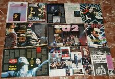 U2 SPANISH  POSTERS CLIPPINGS LOT
