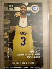 2019 2020 Los Angeles Lakers NBA CHAMPIONS Ticket Stubs pick game! Lebron Davis