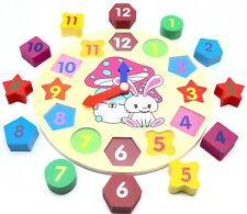 Educational Learning Sorting Clock Puzzle Toy for Toddlers Baby Kids