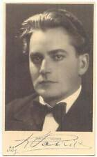 Latvia Actor Karlis Pabriks Signed Postcard Original Autograph 1932