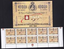 Philippines First Philippine Banknote in Block/10 Plus Official Postalcard