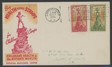 New Zealand, Fdc, #B26-27, W/Nice Red & Yellow Cachet, 1945