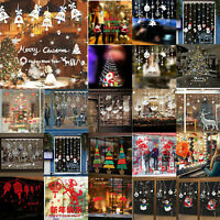 Christmas Xmas Window Decor Wall Sticker Adornment Wall Glass Featival Removable