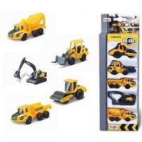 Volvo Construction 5 pack Diecast Vehicles Digger Dumper Truck Roller Gift Toy