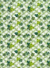1 Yard Longaberger Lots of Luck Shamrock St Patrick Fabric 36 x 54 NEW n zip bag