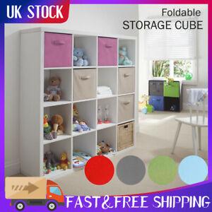 Foldable Fabric Canvas Storage Cube Box Toy Books Clothes Organiser DIY Boxe UK