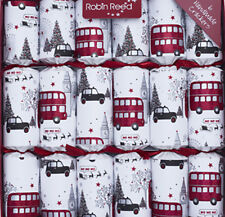 Robin Reed H8 Holiday 6pc 12in Themed Crackers London Christmas Sights 61822