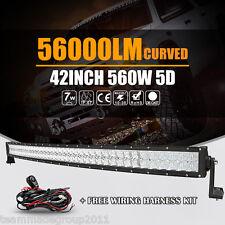"5D CREE 42INCH / 45"" 560W CURVED LED WORK LIGHT BAR SPOT FLOOD BEAM CAR PK OSRAM"