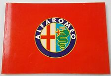 "1981 Alfa Romeo Histoire Livre 4 "" X6 "" Italien 6C 8C 1750 Alfetta Giulia Gt"