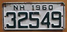 New Hampshire 1960 BOAT License Plate # 32549