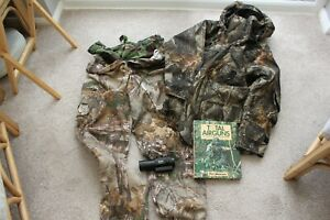 REAL TREE CLOTHING AND OTHER HUNTING ITEMS + CAMO COVER