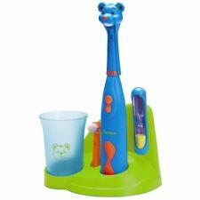 Bestron elektrische Kinderzahnbürstenset Zahnbürste Kinderbürste Bär DSA3500B
