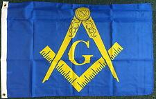 Freemason 3x2 Blue Flag Mason Masonic Temple Charity Lodge Business Event bnip