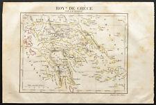 1843 - Royaume de Grèce - Carte ancienne - Perrot & Tardieu - Antique Map