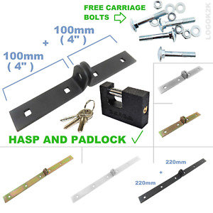 Hasp Locking Security Bar And Shutter Padlock      Van Gate Garage Door Shed STR