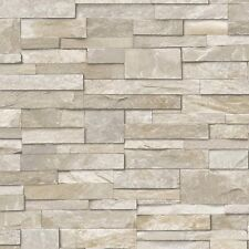 3D Vinyl Split Face Tile Stone Brick Effect Wallpaper Washable Vinyl Sand Stone