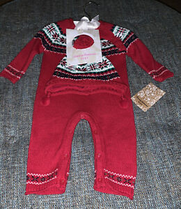 Nwt Tommy Bahama Winter Knit One Piece Kids Size 3-6 Months Christmas SweaterY12