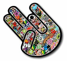 The SHOCKER Hand With Colour JDM Drift Style Stickerbomb vinyl car sticker decal