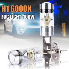 2X H1 200W COB LED Fog Tail Light Bulbs Car Driving Head Lamp 6000K White UK