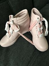 Juicy Couture Lace Up Wedge Sneakers Bootie Uk 6 Womens Euro 39 Heel Trainer
